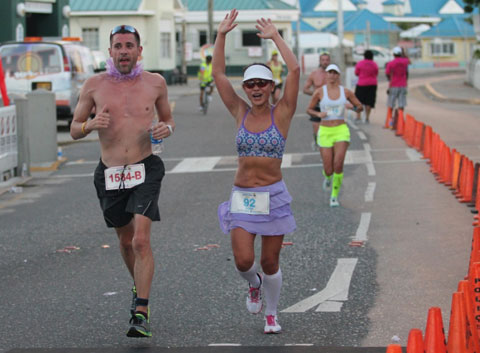 Marathon rings up more than $8,000 for two worthy causes