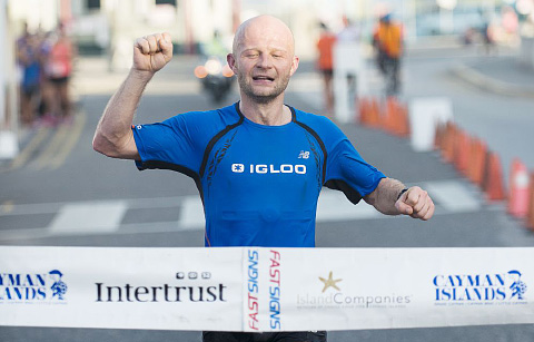 Marathon runners take to the streets