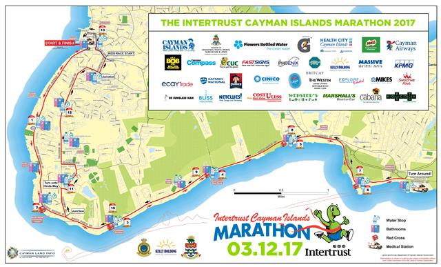 Cayman Islands Marathon Route